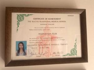 Zertifikat für erweiterte Thai-Medizinische Massagetherapie